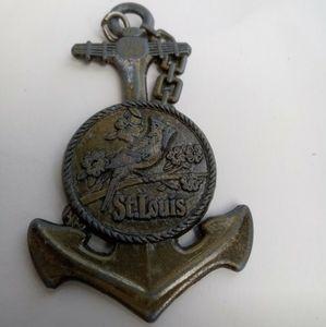 5/$25 St Louis anchor keychain